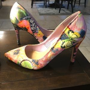 Multi Colored High Heel shoes.